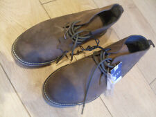 MENS LEATHER DESERT BOOTS - BROWN - UK SIZE TEN - BNWT - RRP £30