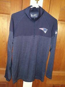 Under Armour NFL New England Patriots Combine Heatgear Training 1/4 Zip Shirt M