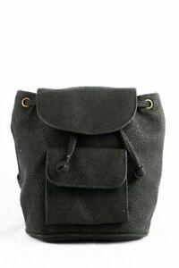 Vintage Mini-Rucksack 90s Design schwarz backpack NoRetro Kult