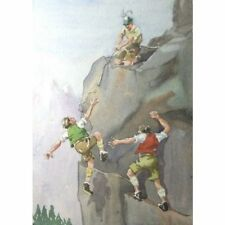 Original Bristol Savage Broken Line Mountaineering Watercolour Painting Holloway