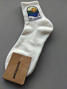 Patagonia Crew Cotton Socks - White - Sun Rising