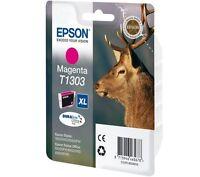 CARTOUCHE EPSON 100% NEUVE T1303 XL MAGENTA  / T130 cerf rouge t1301 noire noir