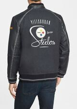NWT TOMMY BAHAMA PITTSBURGH STEELERS WOOL LEATHER VARSITY JACKET MENS SZ XXL 2XL