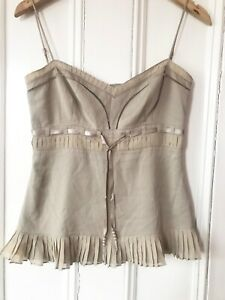 Whistles Femmes Bernadette Montrose Neutre Beige Robe Longue UK14 BNWT RRP329