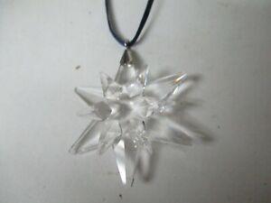 """Tiny 1 3/4"""" Swarovski Crystal Snowflake Star Christmas Ornament #1"""