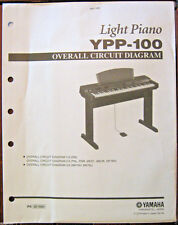 Yamaha YPP-100 Electronic Digital Piano Original Overall Circuit Diagram Sheets