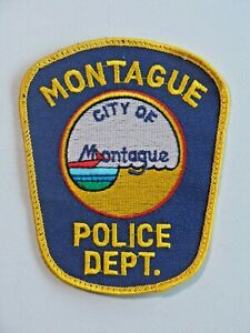 Vintage Montague Police Dept. City of Montague Patch Michigan Used 7708