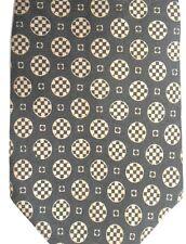 "Traditions by Alport & Ritchie Men's Silk Tie 57"" X 4"" Olive & Brass Geometric"