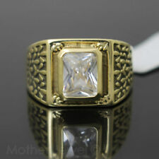 Yellow Gold Simulated Brass Fashion Rings