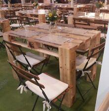 Tavolo in legno massello con Pallet Bancali EPAL arredamento 120x80 smontato