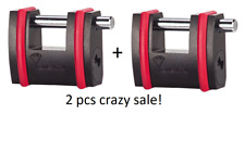 2 PCS Mul-T-Lock Padlock NE  SBNE12 Sliding Bolt High Security BORON SHACKLE