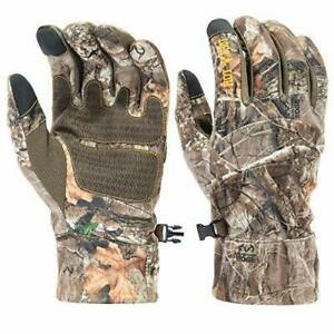 HOT SHOT Men's Camo Swiftstrike Pro-Text Gloves Realtree Edge Hunting Camouflage
