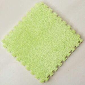 Soft Plush Carpet Tiles 13 Colors Spliced Square Puzzle Mat Room Area Floor Rug