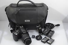 EXC++ NIKON D40X w/NIKON AF-S 18-55mm BUNDLE, 2BATTS, CASE, CHARGER, 3491 ACTS