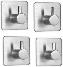 4 Pack Self Adhesive Hooks Stainless Steel 3M Adhesive Wall Hanger, Waterproof H