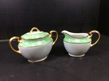 "BEAUTIFUL ANTIQUE NORITAKE ""M"" LUSTERWARE SUGAR AND CREAMER"