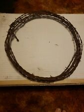 "VINTAGE BARB WIRE 12"" WREATH  or 20ft RUSTIC. WESTERN , LODGE, DECORATION."