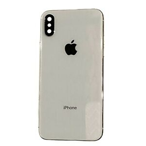 iPhone X Rear Housing Cover Part Silver White Original OEM without small part