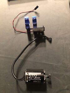 Hobbywing V10 Motor With Hot Racing Fan And Programming Box