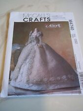 """McCall's Crafts Pattern 11 1/2"""" Doll Bridal Gown M4740 by Alicyn Wright New"""