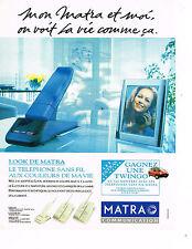 PUBLICITE ADVERTISING 035  1993  MATRA   téléphone sans fil  LOOK