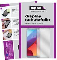2x LG G6 Pellicola Protettiva Protezione Schermo Cristallo dipos