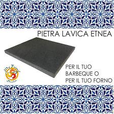 Bistecchiera in Pietra lavica Etnea   Barbecue 39x35x2 ottima per carne e pesce
