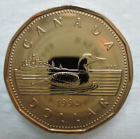 1994 CANADA LOONIE PROOF-LIKE ONE DOLLAR COIN