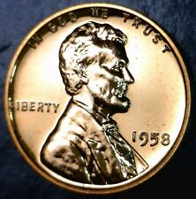 1958 STUNNING GEM PROOF Lincoln Cent PRF Coin Lot #1 of 100 Auctions NO RESERVE