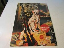 "RARE Remington Retro Tin Metal Sign of Classic Ad - Dog -Lets Go, Nitro-12 x 16"""