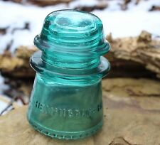 Blue  HEMINGRAY ANTIQUE GLASS INSULATOR No 16