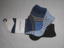 BNWT CALVIN KLEIN  Cotton Blend  Ladies Ankle Socks  - 3 Pairs  Blue Black
