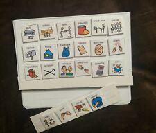 NEW SCHOOL PECS PICTURE EXCHANGE COMMUNICATION BOOK AUTISM SPEECH DELAY FUN HELP