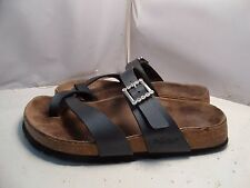 Birkenstock Papillio 37 / 6 Tabora Metallic Gray Toe Loop Strap Sandal Flip Flop