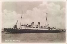 Postcard Shipping Ferries RMS Isle Of Guernsey   Real photo Unposted