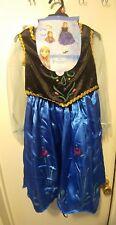 Disney Frozen Anna Deluxe Costume w/headband & wig, petticoat & cape
