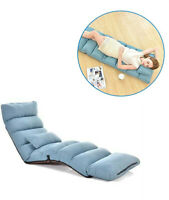 Lonabr Adjustable Lazy Sofa Floor Chair Couch Bed Lounge w/Pillow Gaming Reading
