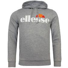 ellesse Bino Logo Hooded Jumper Mens Track Top Grey Hoody 09020343.00t U21 L