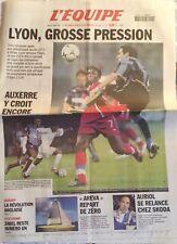L'Equipe Journal 22/10/2002; Lyon-Inter de Milan/ Auxerre/ Zabel n°1/ Auriol