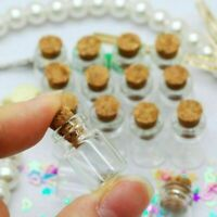 50pcs 0.5ml Small Mini Glass Bottles Jars with Cork Stoppers Party Favors