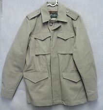 S1164 Eddie Bauer Grey Sportsman Coat Size Large with Waist Drawstring