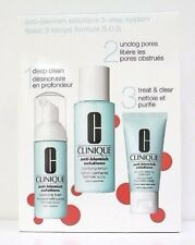 Clinique 3 Step Skin Care System Set -  Anti- Blemish Solutions - Boxed