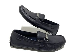 Cole Haan Provincetown Bit Driver Loafers Pebbled Leather Navy C26630 Size 11.5