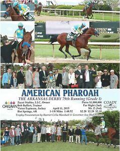 "2015 - AMERICAN PHAROAH - 6 Photo Arkansas Derby Composite - 8"" x 10"""