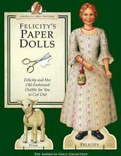 AMERICAN GIRL PASTIMES Felicity & Posie PAPER DOLLS w/ Samantha Doll