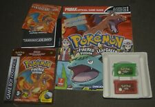 Gameboy Advance Pokemon Fire Red and Leaf Green games, and guide