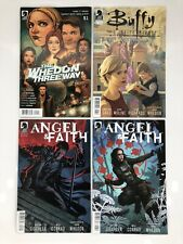 Lot Of 4 Buffy The Vampire Slayer Dark / Angel & Faith Dark Horse Comic Books