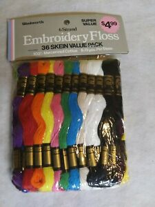 36 Skeins Vintage Woolworth IRIS 6-Strand Embroidery Floss Free Shipping