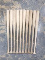 """20 Pack 33.5"""" CRAFT QUALITY Wooden Blem Baseball Bats"""