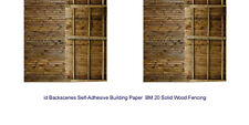 ID Backscenes BM020 Wood Fence 10 Printed Self-Adhesive Paper Sheets 00 Gauge 1s